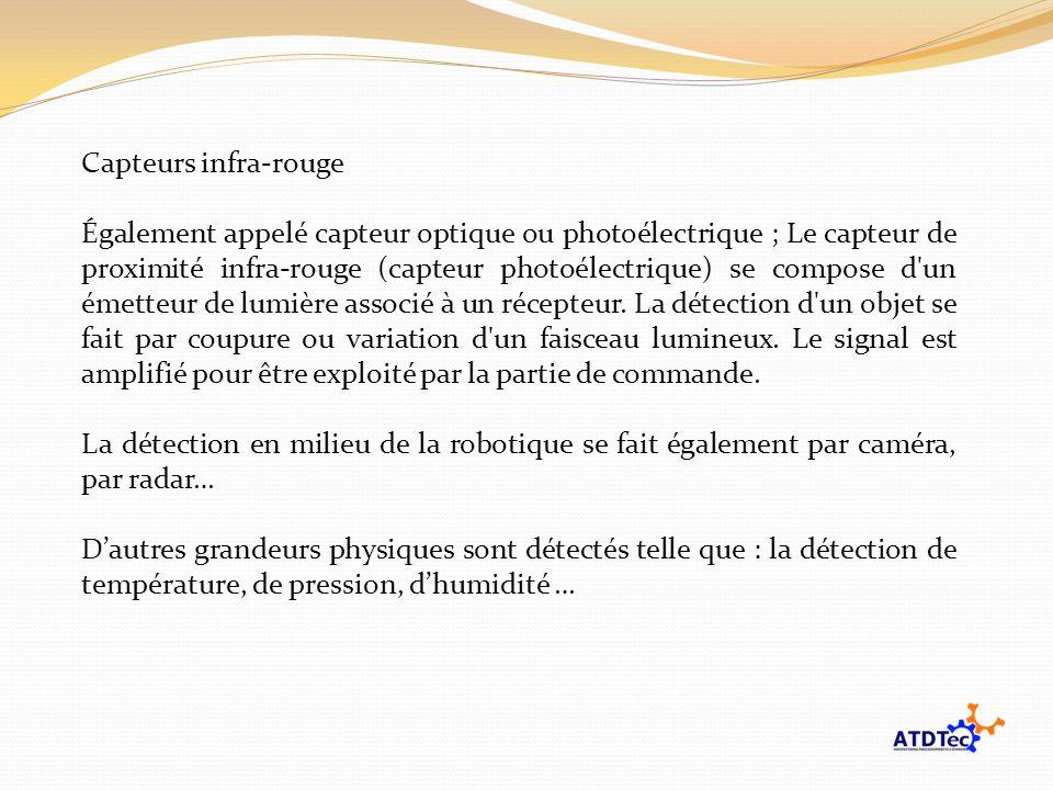 Capteurs infra-rouge Également appelé capteur optique ou photoélectrique ; Le capteur de proximité infra-rouge (capteur photoélectrique) se compose d'