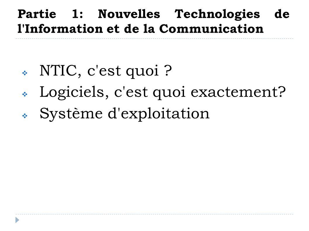 Définition : Années 1990, on parlait plutôt des TIC Information Informatique Electronique Télécommunications Audiovisuel NTIC Les Nouvelles Technologies de l Information et de la Communication NTIC, c est quoi.