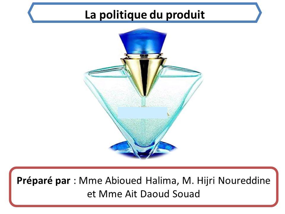 La politique du produit Préparé par : Mme Abioued Halima, M.