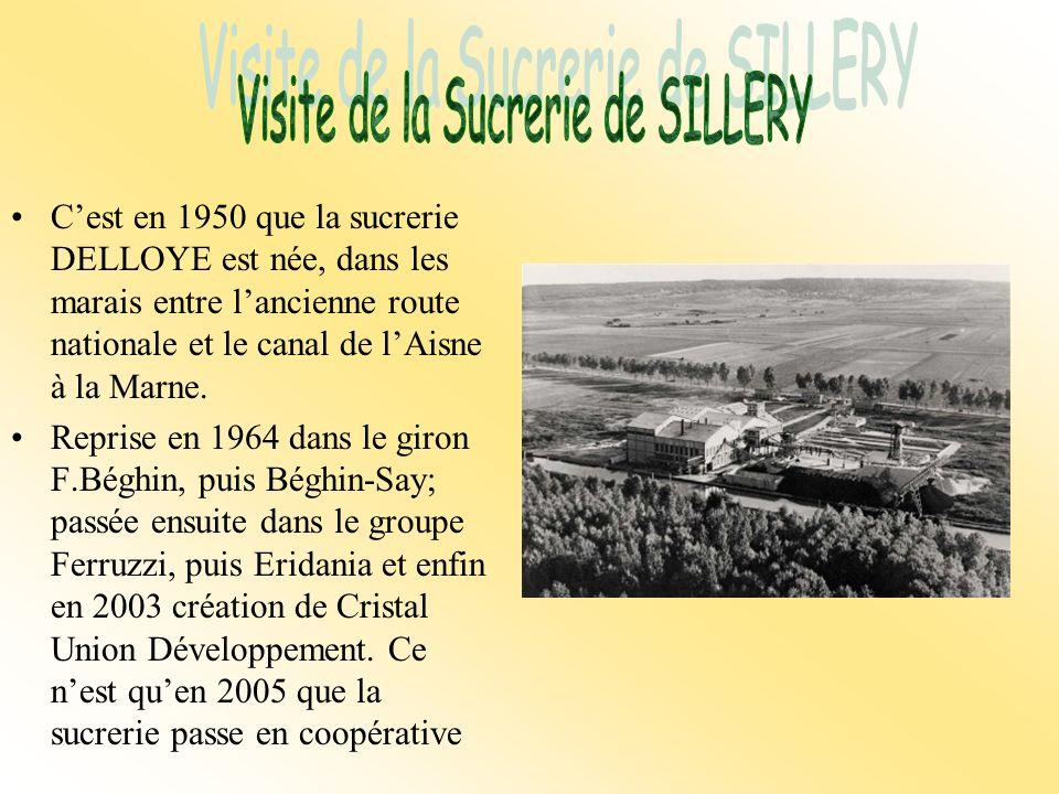 Cest en 1950 que la sucrerie DELLOYE est née, dans les marais entre lancienne route nationale et le canal de lAisne à la Marne.