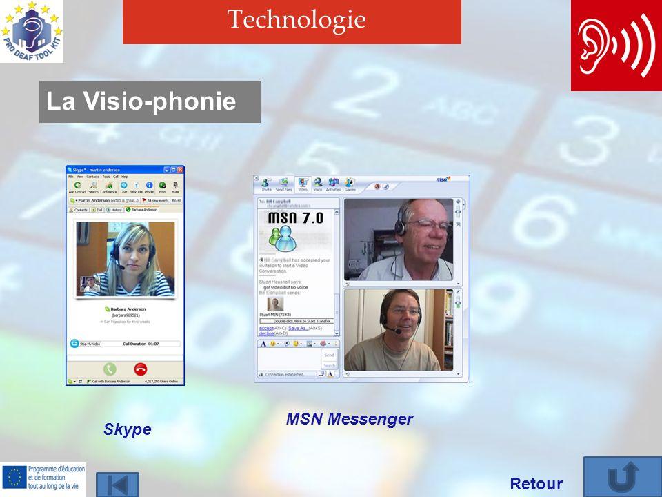 Technologie Retour La Visio-phonie Skype MSN Messenger
