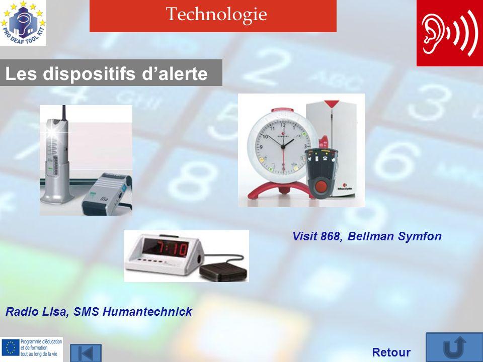 Technologie Retour Les dispositifs dalerte Radio Lisa, SMS Humantechnick Visit 868, Bellman Symfon