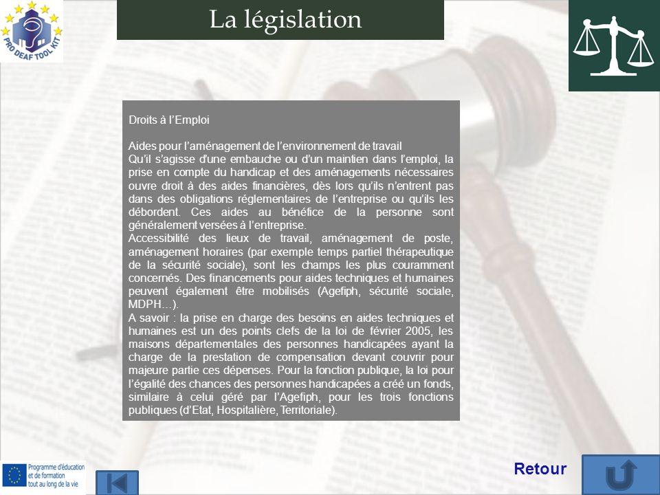 Droits à lEmploi Aides pour laménagement de lenvironnement de travail Quil sagisse dune embauche ou dun maintien dans lemploi, la prise en compte du h