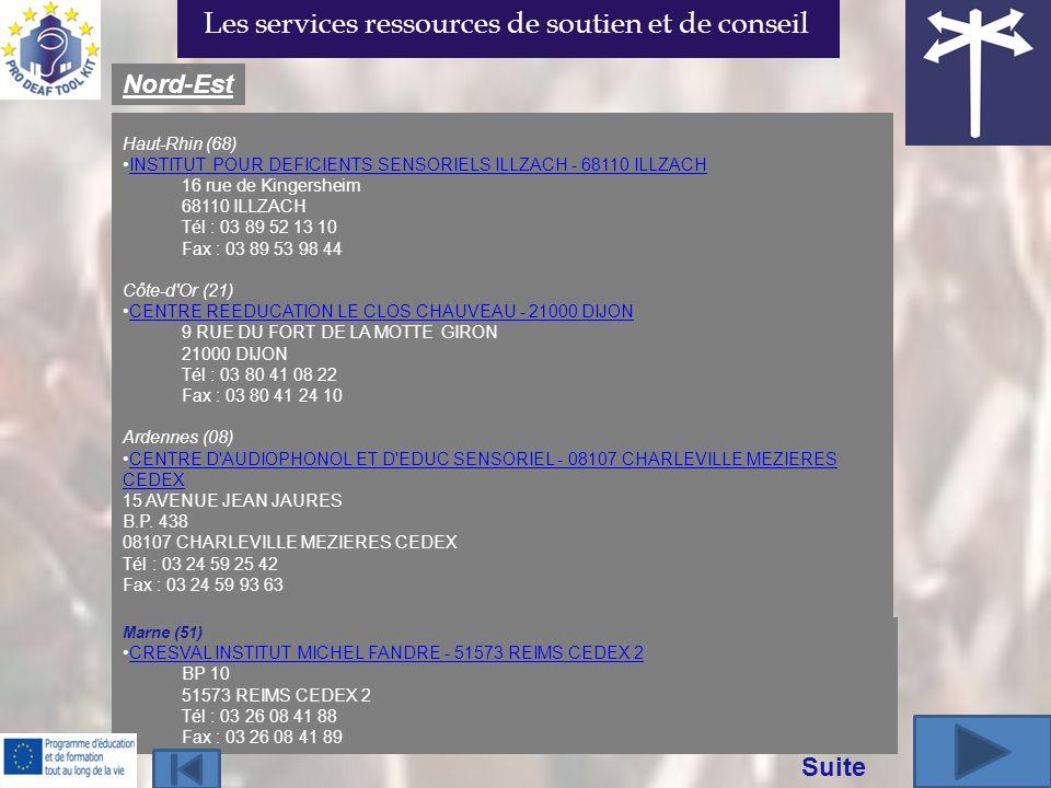 Haut-Rhin (68) INSTITUT POUR DEFICIENTS SENSORIELS ILLZACH - 68110 ILLZACH 16 rue de Kingersheim 68110 ILLZACH Tél : 03 89 52 13 10 Fax : 03 89 53 98