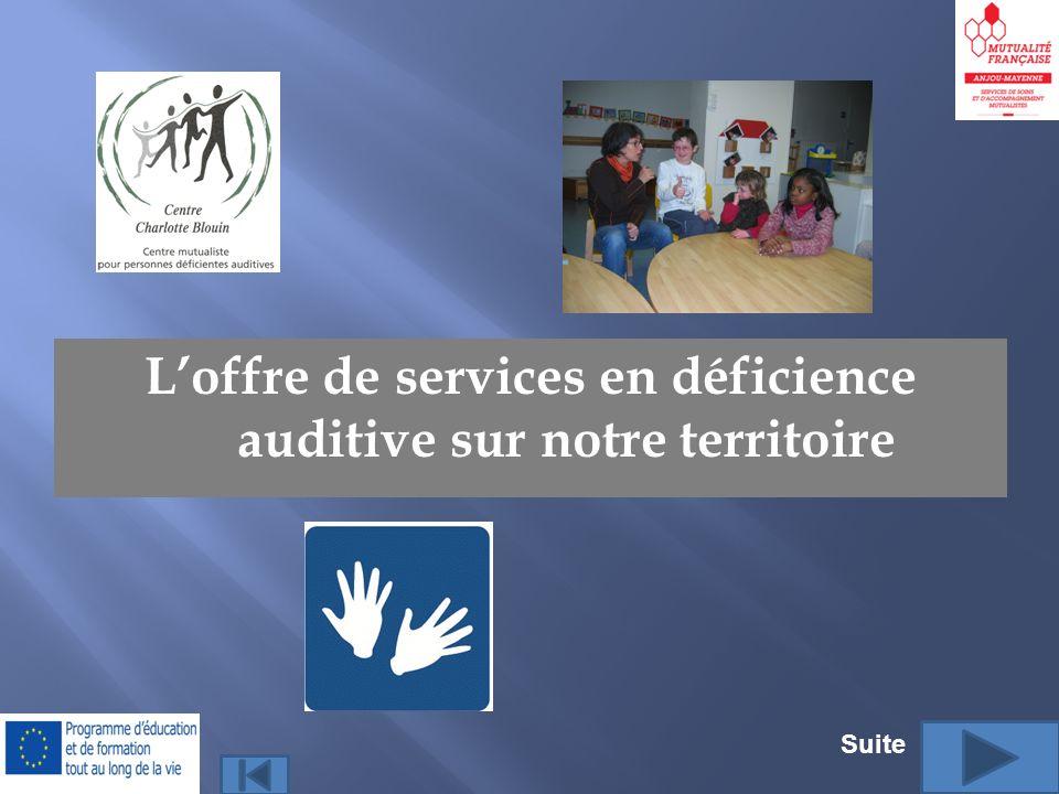 Loffre de services en déficience auditive sur notre territoire Suite