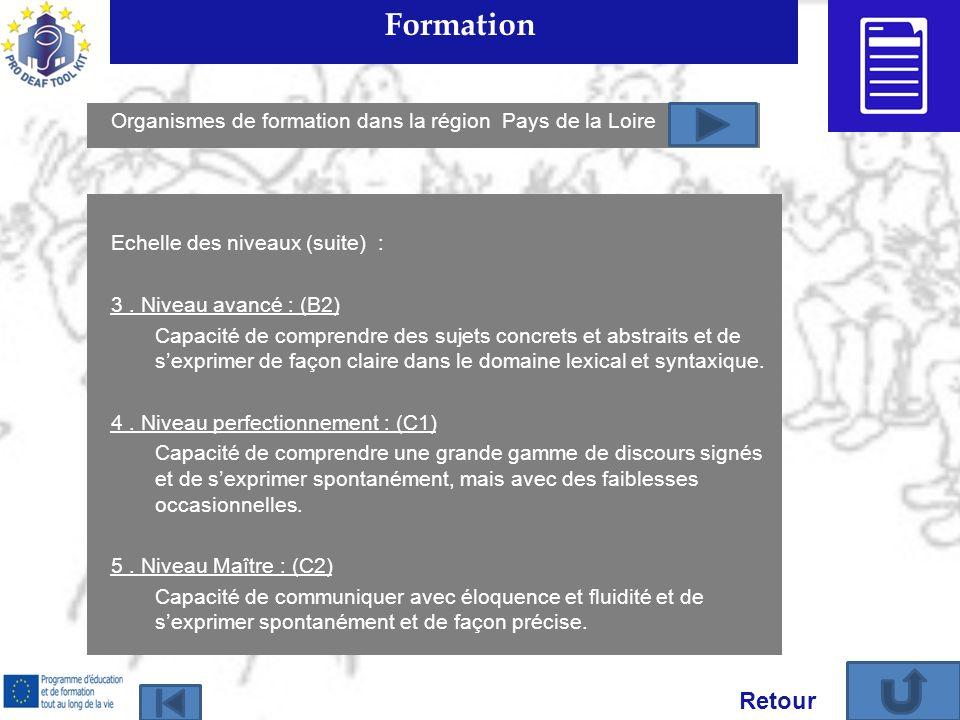 Formation Echelle des niveaux (suite) : 3.