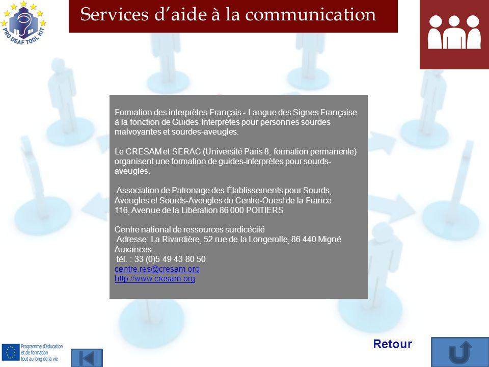 Formation des interprètes Français - Langue des Signes Française à la fonction de Guides-Interprètes pour personnes sourdes malvoyantes et sourdes-ave