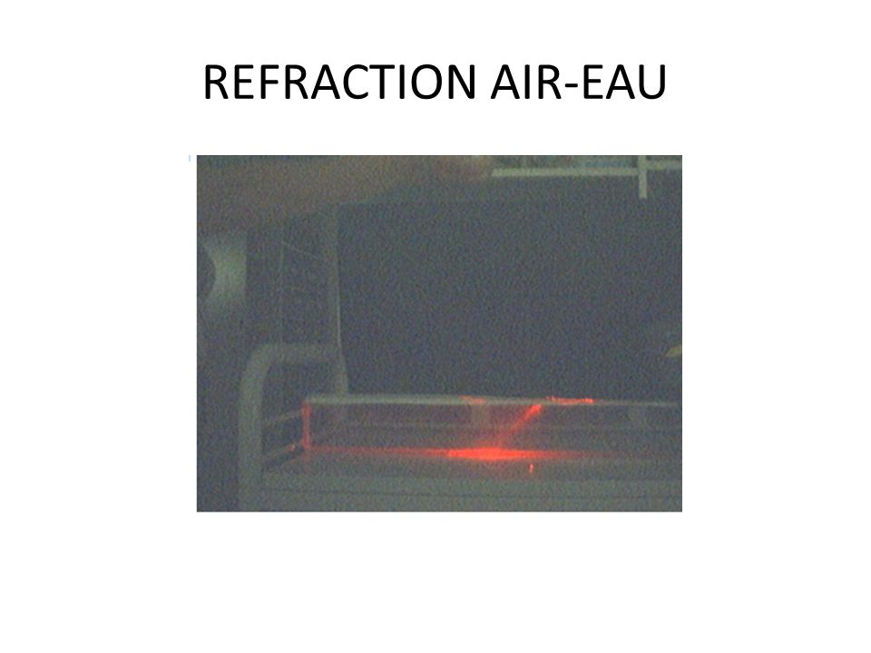 INTERPRETATION O On appelle réfraction le changement de direction que subit la lumière lorsqu elle traverse la surface séparant deux milieux transparents.
