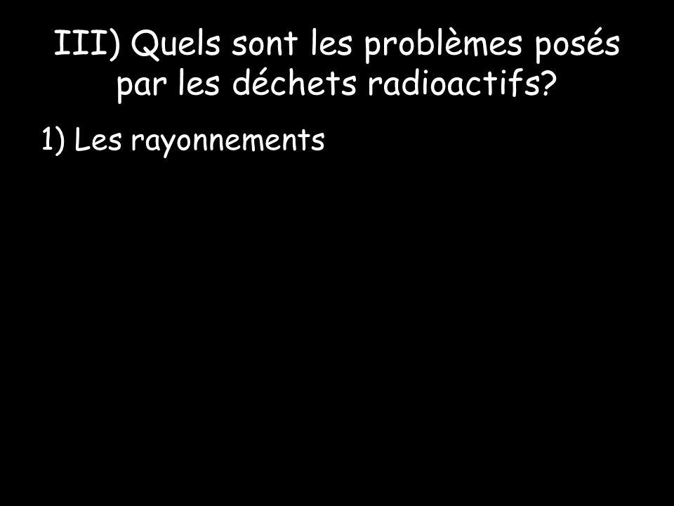 1) Les rayonnements