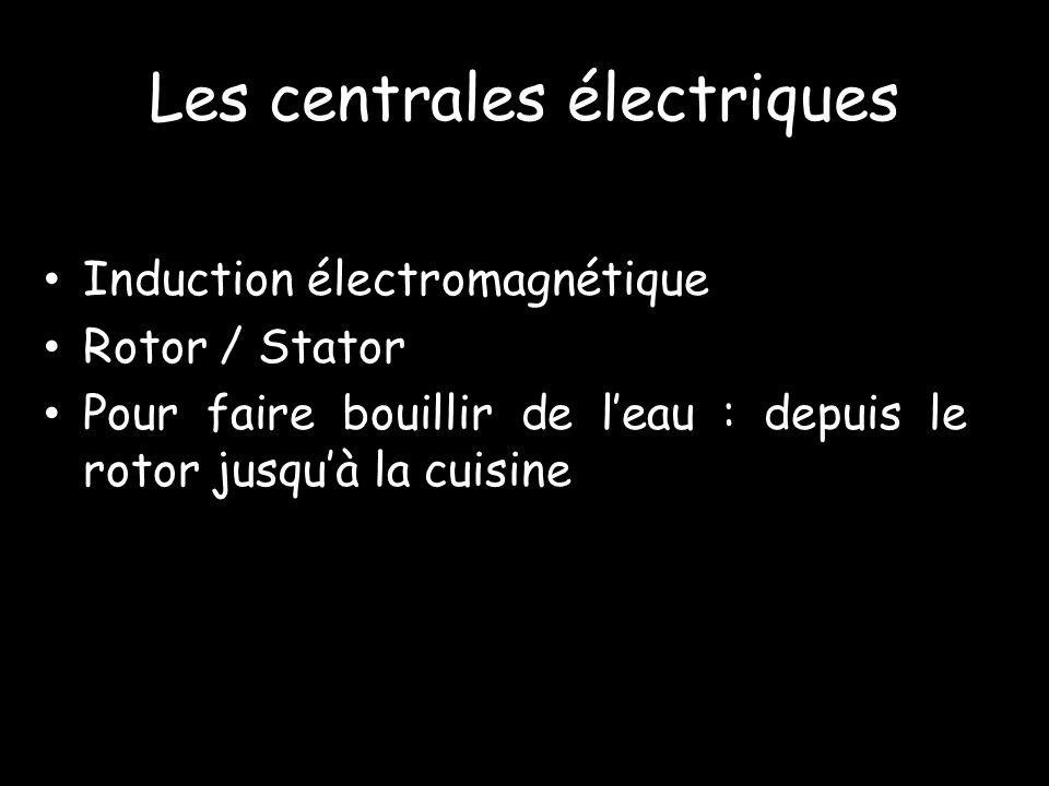 Induction électromagnétique Rotor / Stator Pour faire bouillir de leau : depuis le rotor jusquà la cuisine