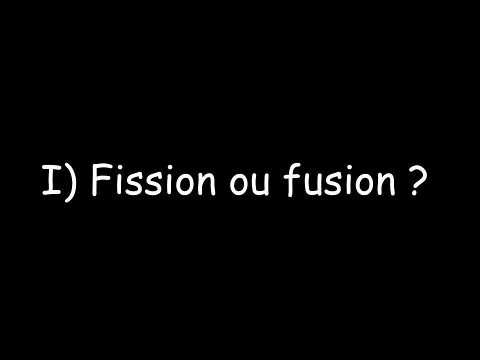 I) Fission ou fusion ?