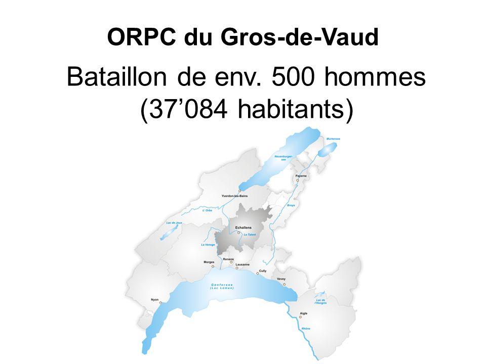 ORPC du Gros-de-Vaud Bataillon de env. 500 hommes (37084 habitants)