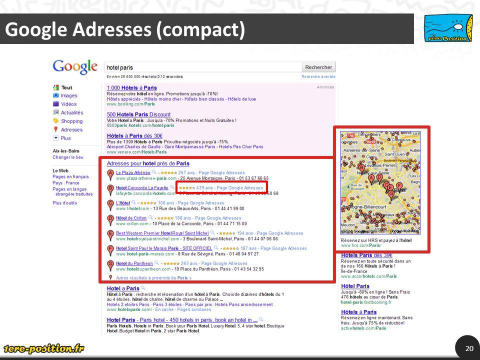 Google Adresses (compact) 20