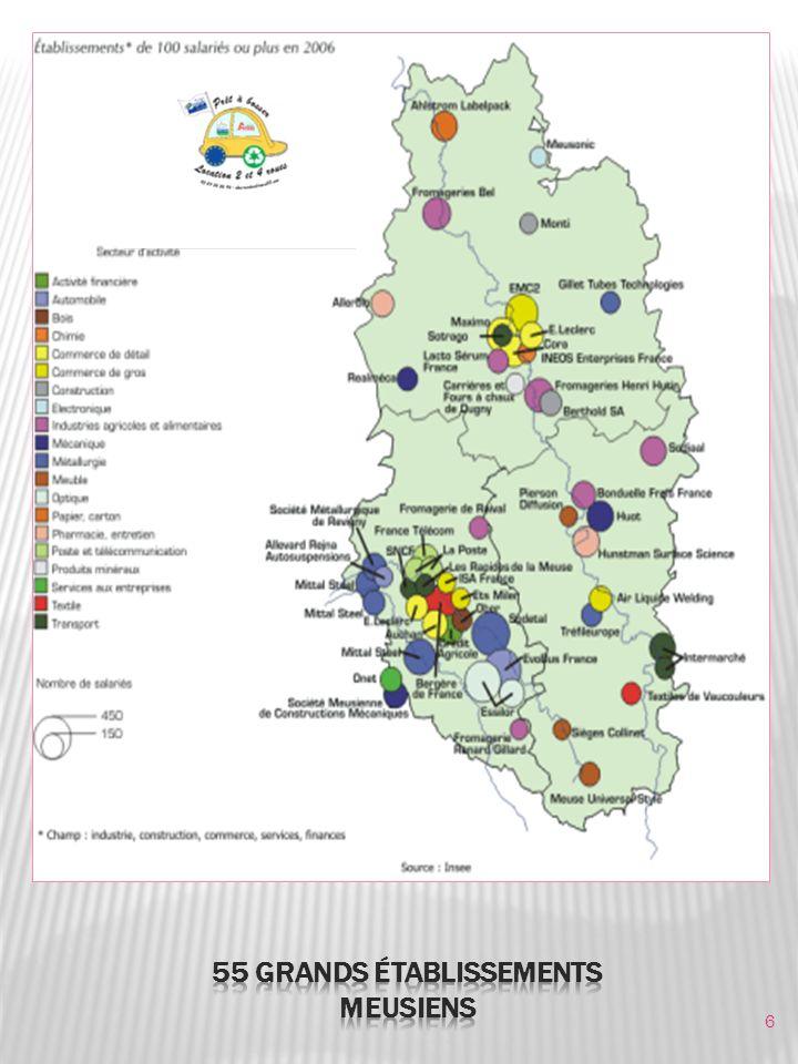 7 Le territoire meusien, fortement marqué par la ruralité, possède de grands espaces avec des communes éloignées les unes des autres.