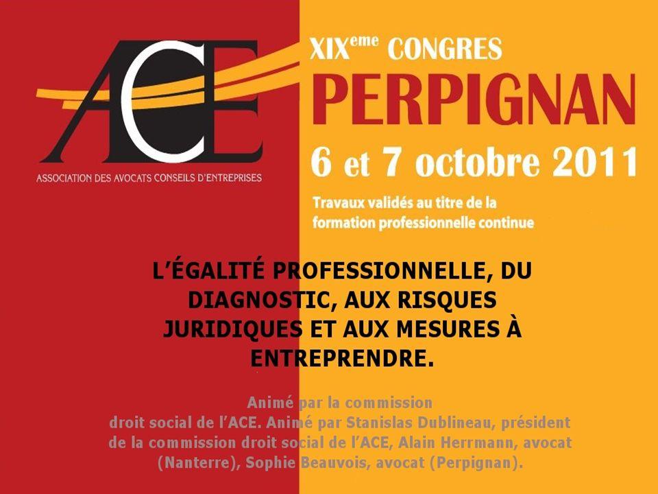 Légalité professionnelle, du diagnostic, aux risques juridiques et aux mesures à entreprendre | 7 octobre 20111
