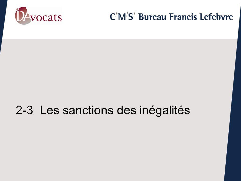 2-3Les sanctions des inégalités
