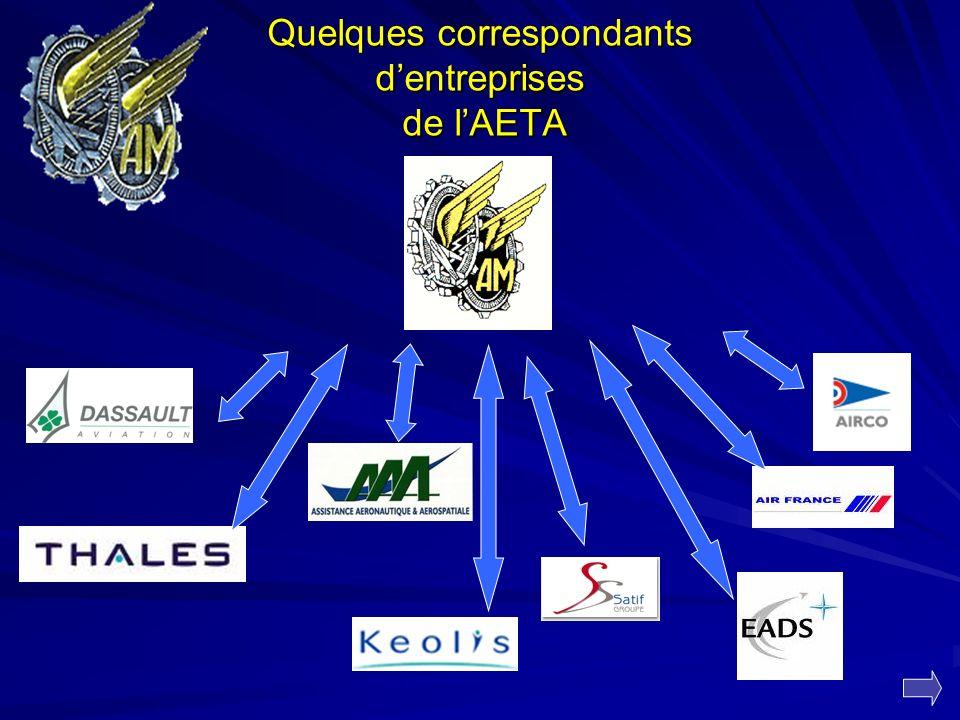 Quelques correspondants dentreprises de lAETA