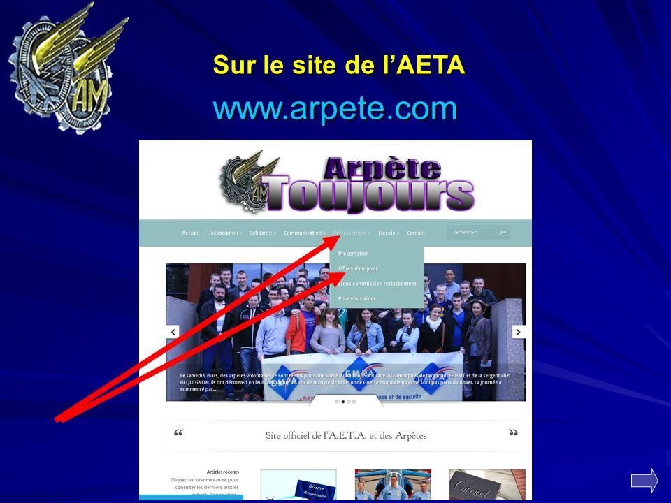 Sur le site de lAETA www.arpete.com
