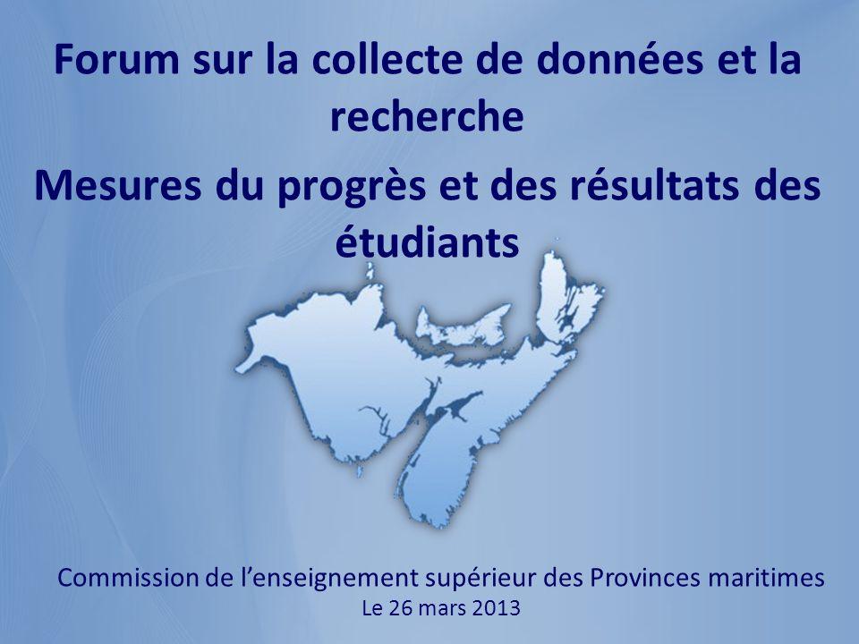 Nobody is unpredictable Commission de lenseignement supérieur des Provinces maritimes Le 26 mars 2013 Forum sur la collecte de données et la recherche Mesures du progrès et des résultats des étudiants