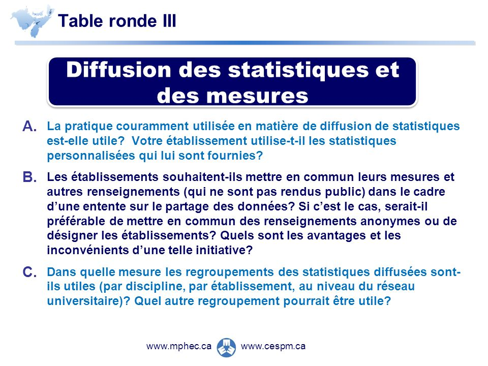 Table ronde III A.