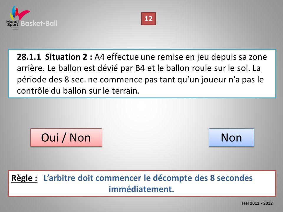 28.1.1Situation 2 : A4 effectue une remise en jeu depuis sa zone arrière.