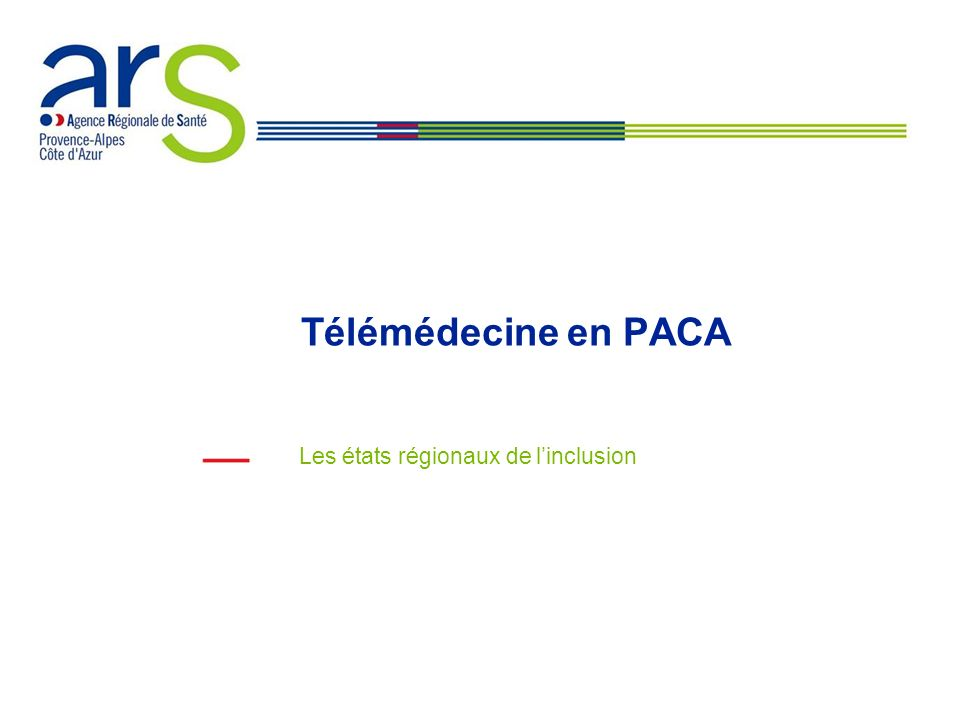 Télémédecine en PACA Les états régionaux de linclusion