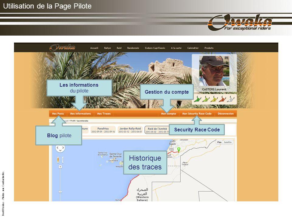 Utilisation de la Page Pilote Trace: de lEtape du jour Classement par type de véhicule.