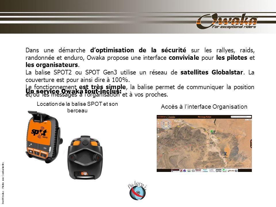 Dans une démarche doptimisation de la sécurité sur les rallyes, raids, randonnée et enduro, Owaka propose une interface conviviale pour les pilotes et les organisateurs.