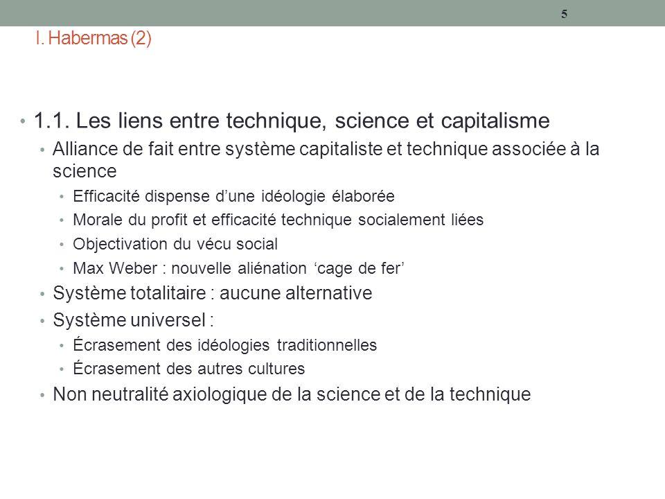 I. Habermas (2) 1.1.