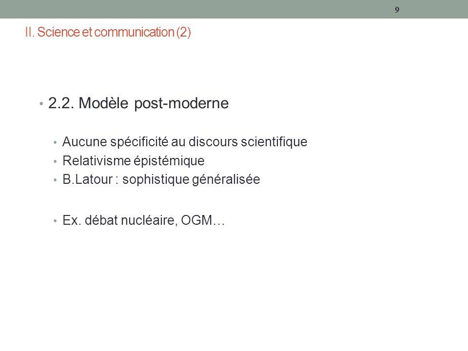 II. Science et communication (2) 2.2.