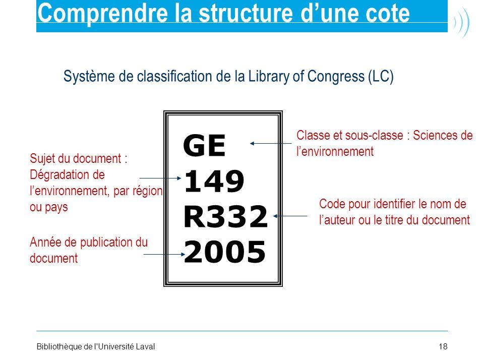 18Bibliothèque de l'Université Laval Classe et sous-classe : Sciences de lenvironnement Sujet du document : Dégradation de lenvironnement, par région
