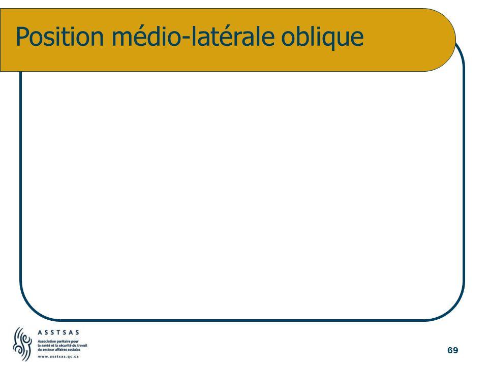 Position médio-latérale oblique 69
