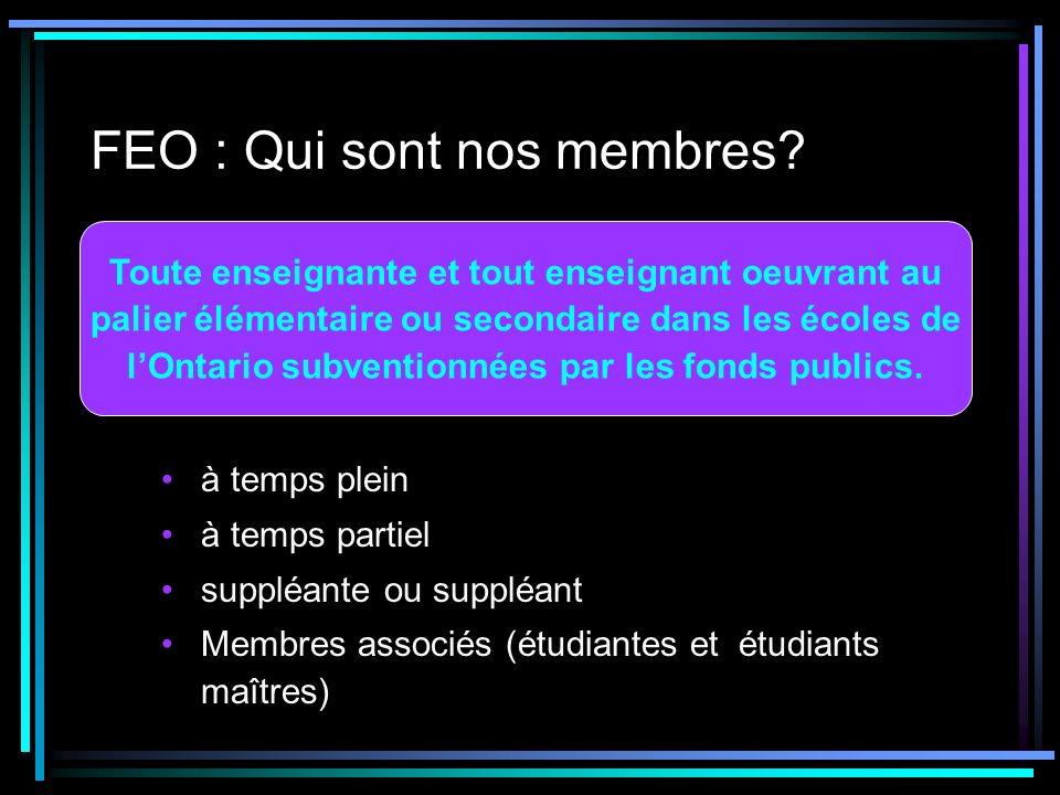 FEO : Qui sont nos membres.