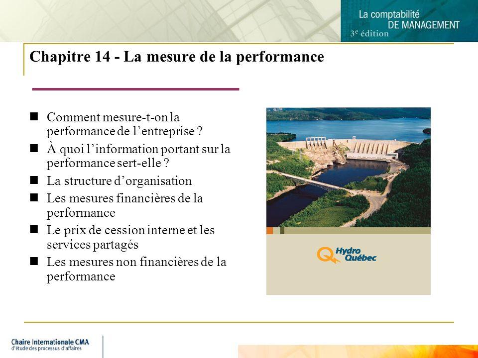 2 Chapitre 14 - La mesure de la performance Comment mesure-t-on la performance de lentreprise ? À quoi linformation portant sur la performance sert-el