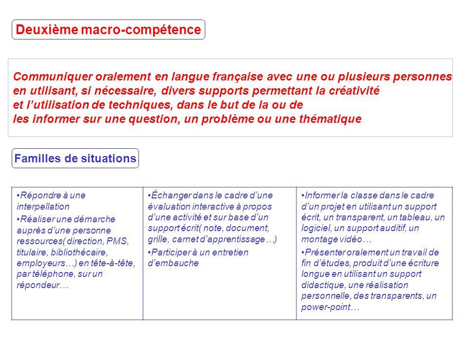 Communiquer oralement en langue française avec une ou plusieurs personnes en utilisant, si nécessaire, divers supports permettant la créativité et lut