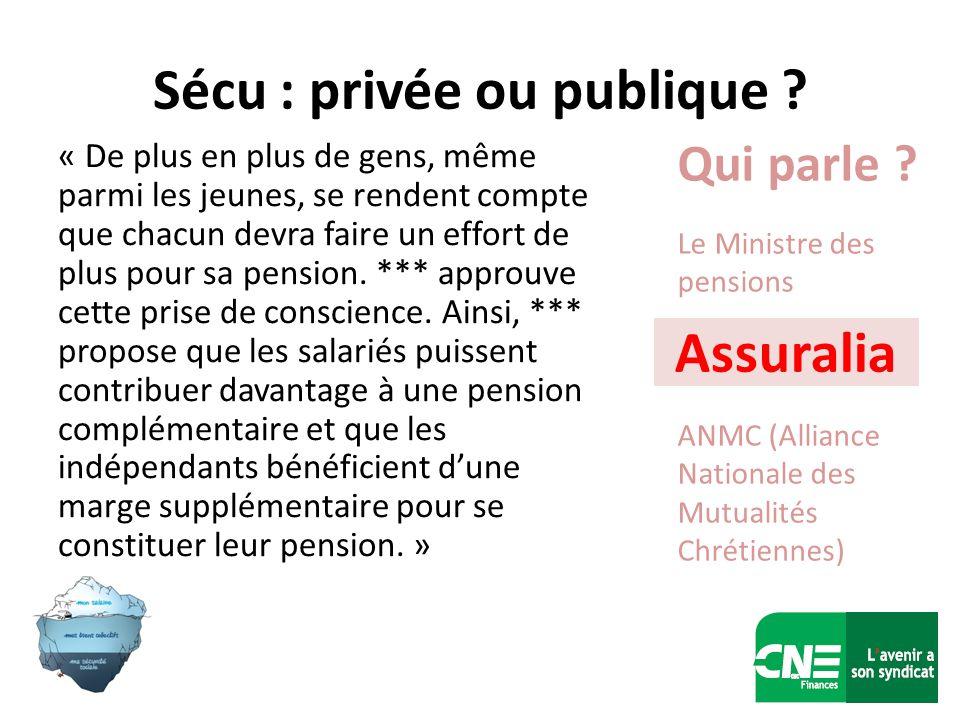 Sécu : privée ou publique .