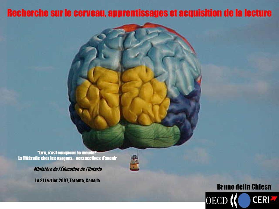 Recherche sur le cerveau, apprentissages et acquisition de la lecture Lire, cest conquérir le monde! La littératie chez les garçons : perspectives d'a