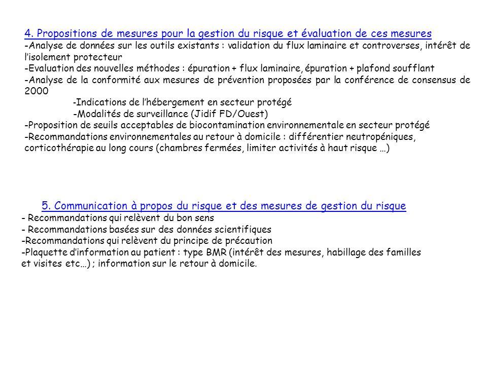 4. Propositions de mesures pour la gestion du risque et évaluation de ces mesures -Analyse de données sur les outils existants : validation du flux la