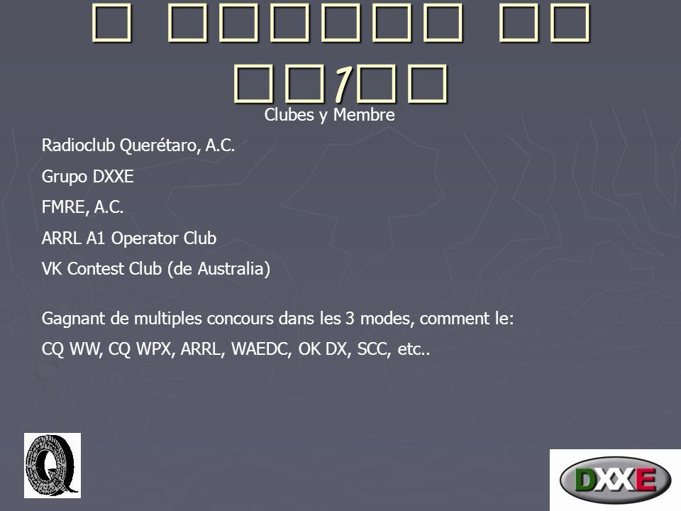 A propos de XE 1 EE Clubes y Membre Radioclub Querétaro, A.C.