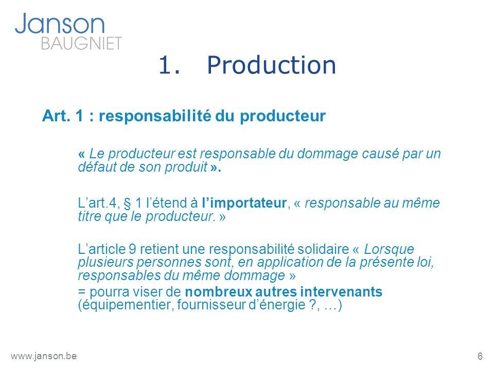 7 www.janson.be 1.Production Art.