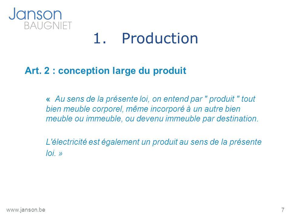 28 www.janson.be 5.Après - Vente 5.1.Obligations de garantie du Code civil Art.