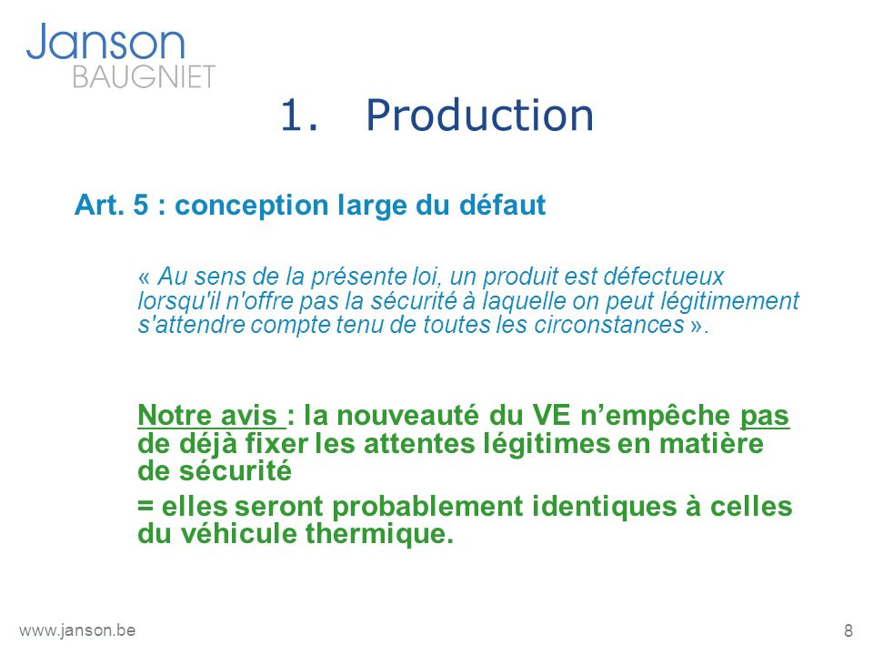 9 www.janson.be 1.Production MAIS art.