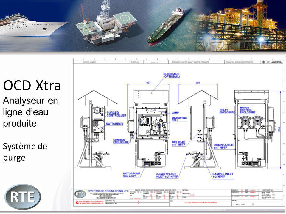 OCD Xtra Analyseur en ligne deau produite Système de purge
