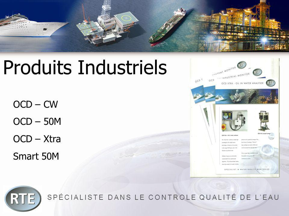 SPÉCIALISTE DANS LE CONTROLE QUALITÉ DE LEAU Produits Industriels OCD – CW OCD – 50M OCD – Xtra Smart 50M