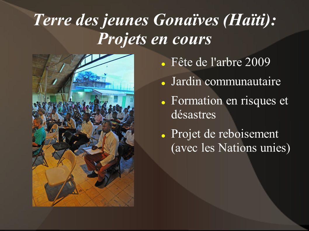 Terre des jeunes Gonaïves (Haïti): Projets en cours Fête de l arbre 2009 Jardin communautaire Formation en risques et désastres Projet de reboisement (avec les Nations unies)