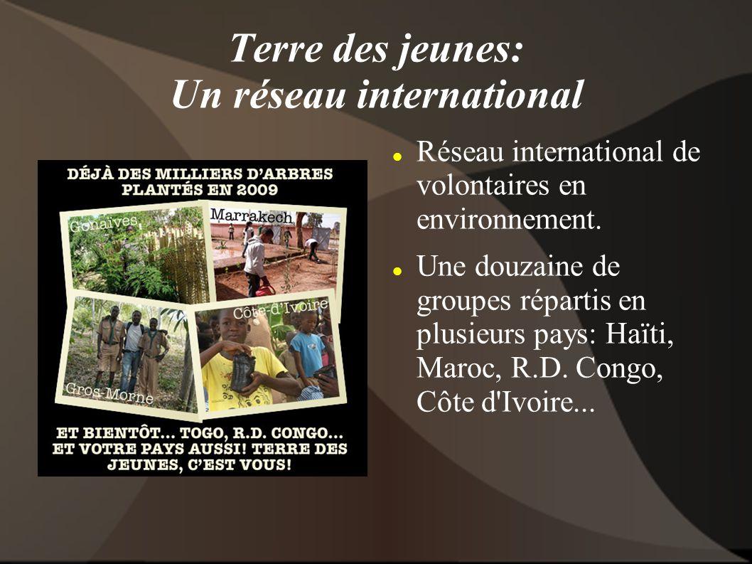 Terre des jeunes: Un réseau international Réseau international de volontaires en environnement.