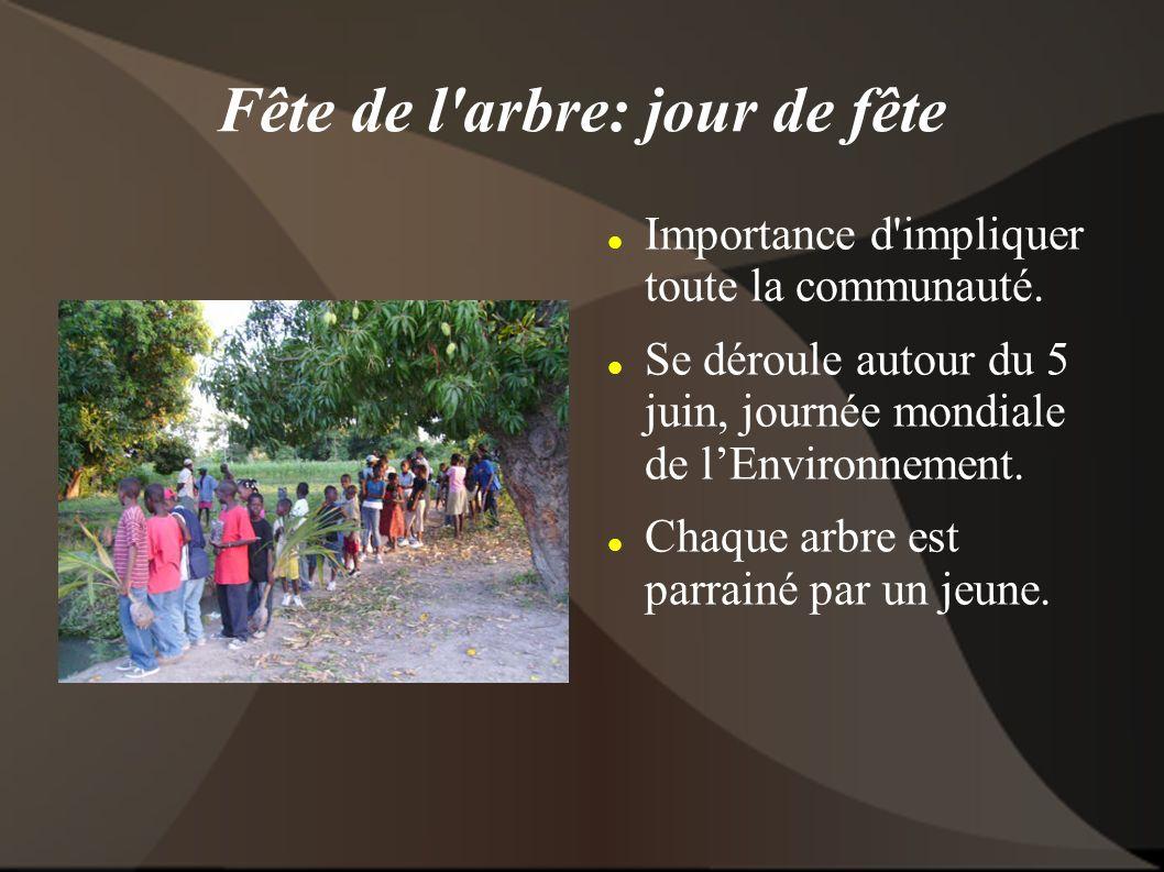 Fête de l arbre: jour de fête Importance d impliquer toute la communauté.