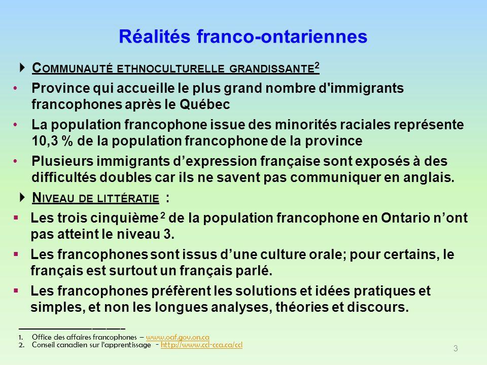 C OMMUNAUTÉ ETHNOCULTURELLE GRANDISSANTE 2 Province qui accueille le plus grand nombre d'immigrants francophones après le Québec La population francop