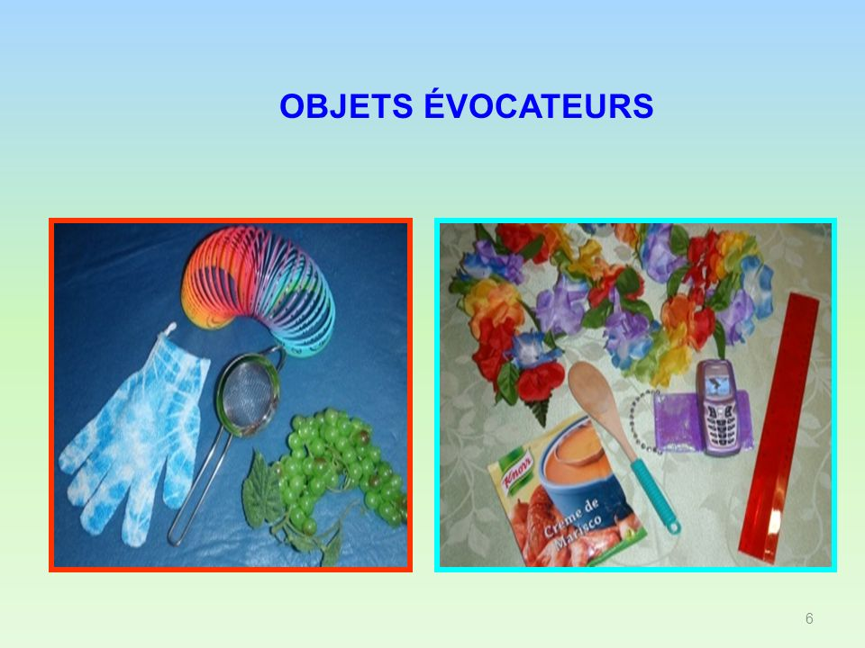 OBJETS ÉVOCATEURS 6