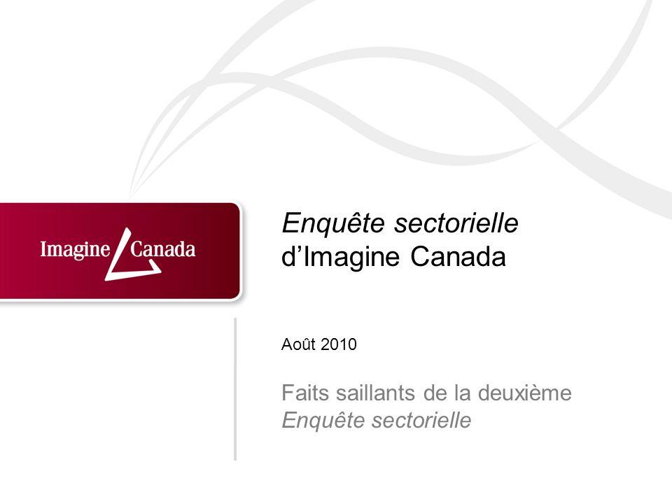 Enquête sectorielle dImagine Canada Faits saillants de la deuxième Enquête sectorielle Août 2010